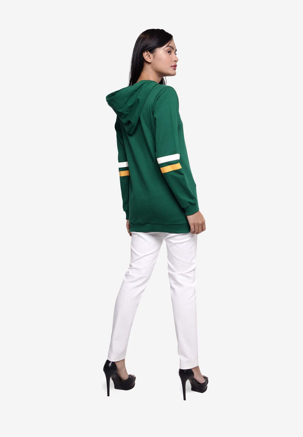 Long Sleeve Hooded Top - Green