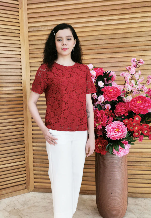 Ruyi by Voir Clothing Oriental Lace Top