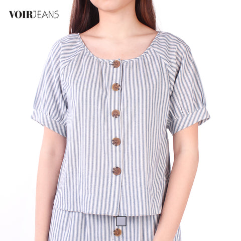 3/4 Sleeve Stripe Blouse