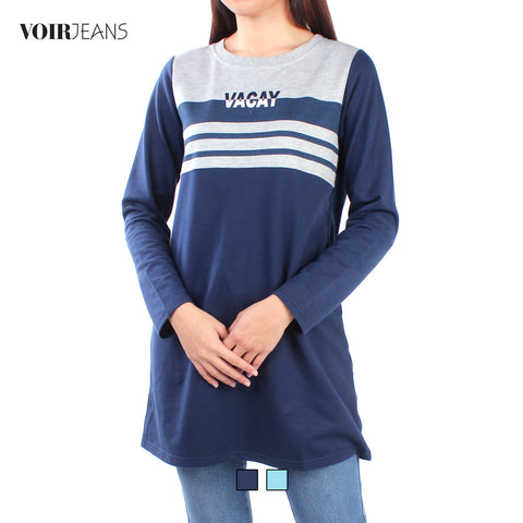 VOIR Ladies Long Sleeve Printed Top Dress VJ103431-A151904
