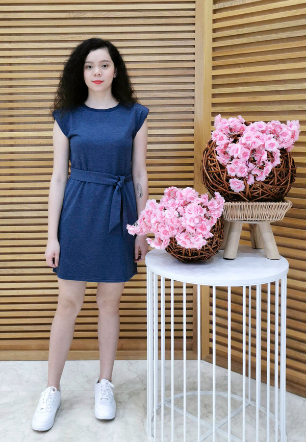 VOIR JEANS Sleeveless Day Dress with Belt