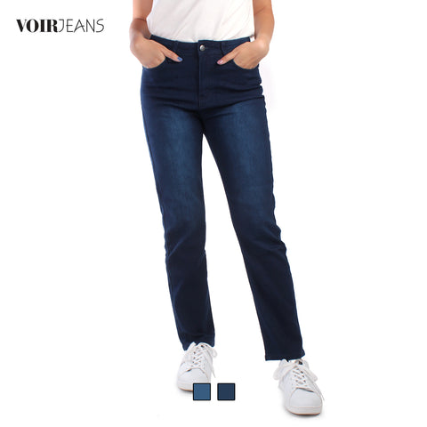 #302 High Rise Waist Straight Cut Jeans