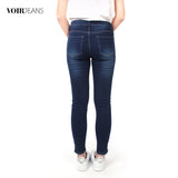 VOIR Ladies #305 Medium Rise Waist Relax Slim Cut Jeans VJ203367-B011903
