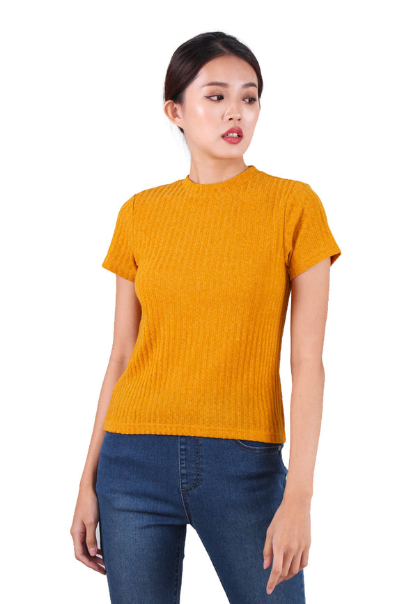 VOIR JEANS Basic Yarn Knit Top