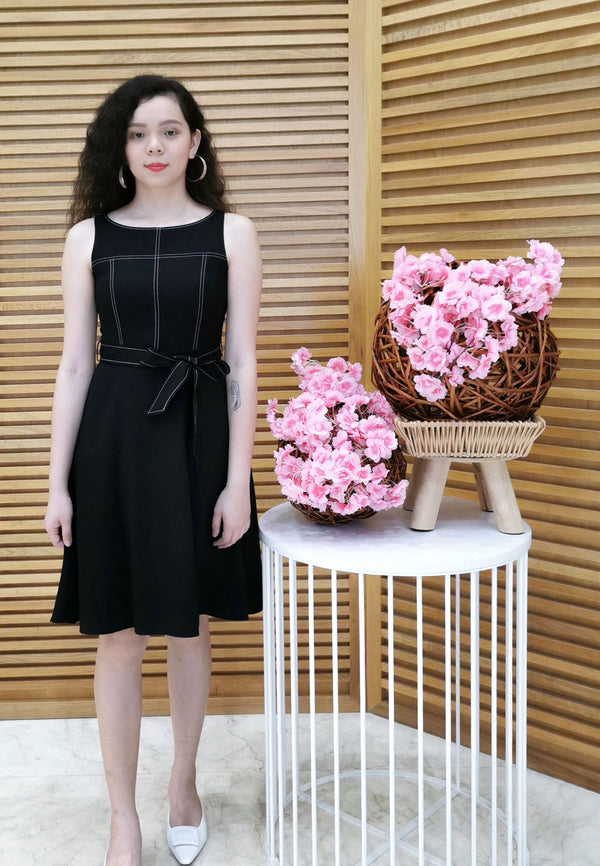 VOIR Executive Work Dress with Ribbon