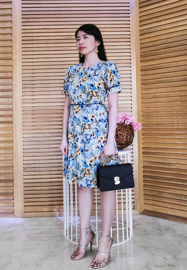 VOIR Executive Midi Floral Dress