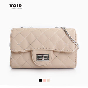 VOIR Quilted Sling Bag with Front Flap Closure VN201126-U031804