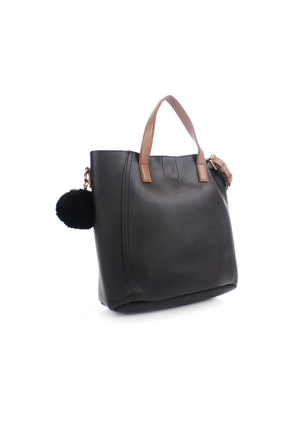 Double Handle Slouchy Tote Bag