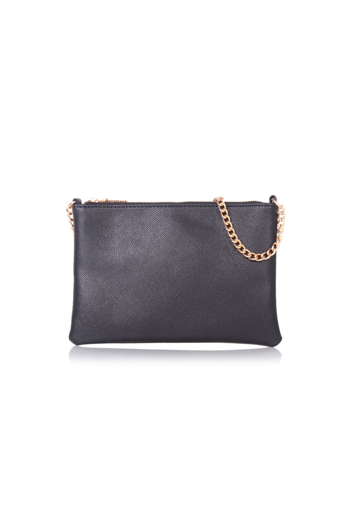 Chain Strap Crossbody Bag in Black