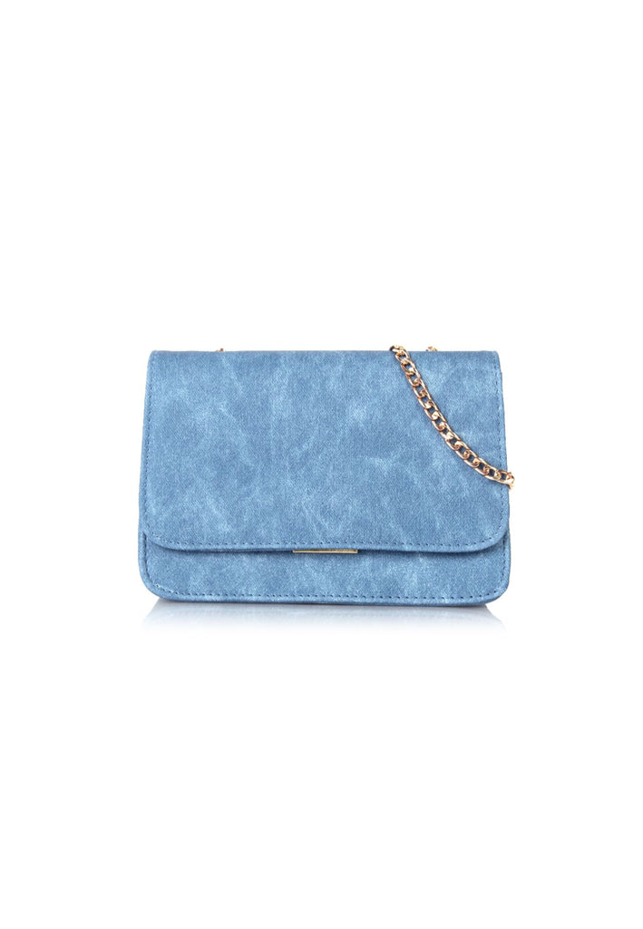 Flap Crossbody Bag in Blue