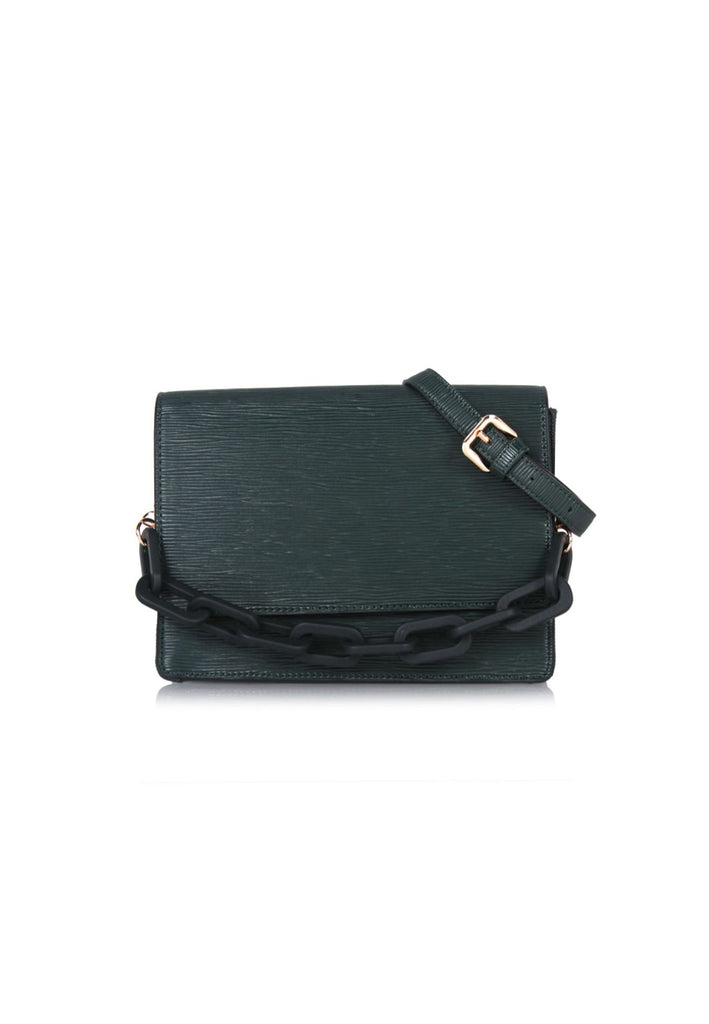 Sumptuous Embossing Crossbody Bag in Green