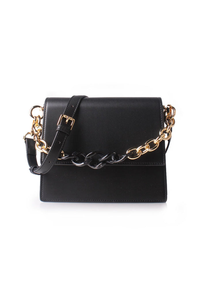 Black Chain Link Shoulder Bag