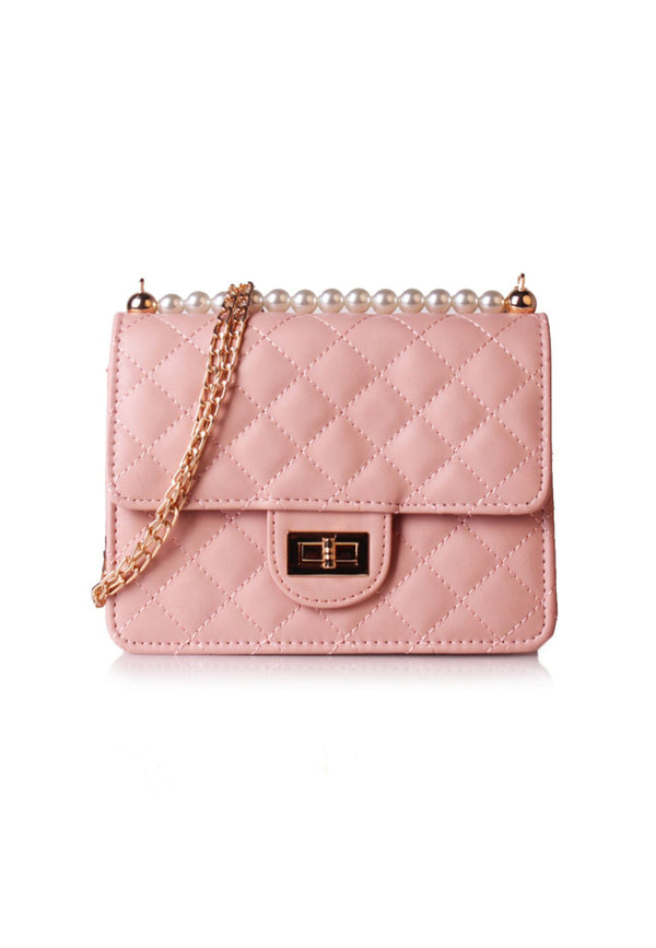 Pearl Quilted Crossbody Bag