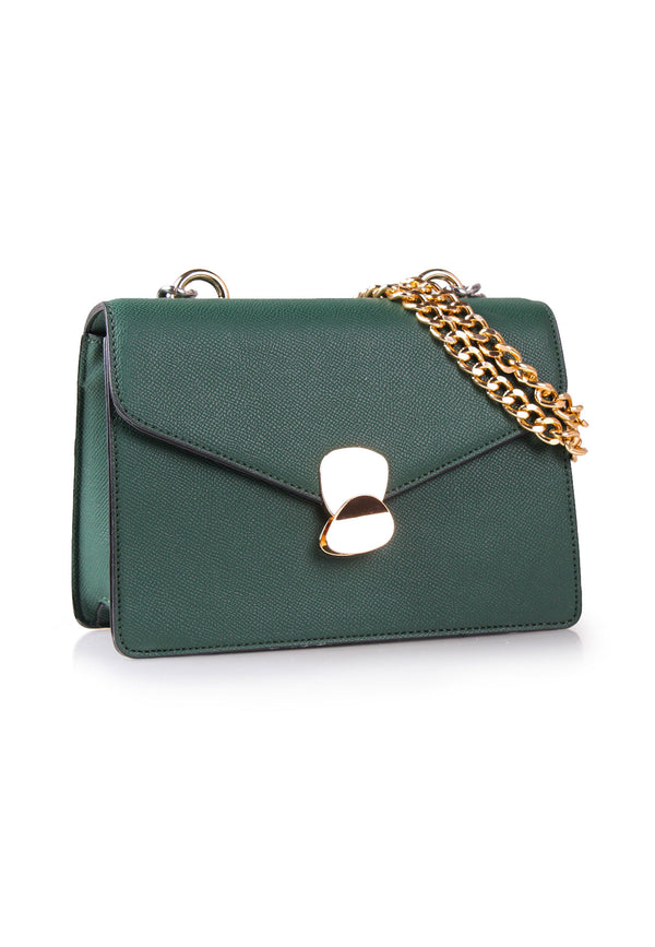 Edgy Chunky Chain Handle Shoulder Bag