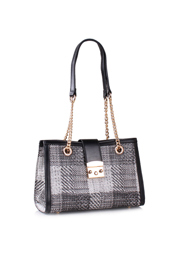 Woven Print Shoulder Bag