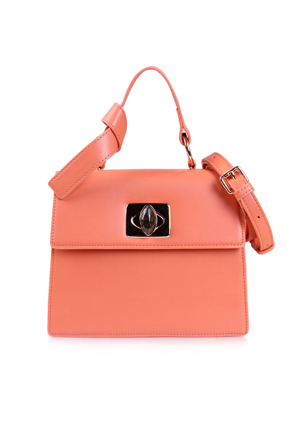 VOIR Large Handbag Featuring Knot Top Handle Details