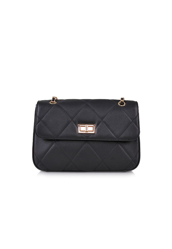 VOIR Quilted Flap Chain Shoulder Bag