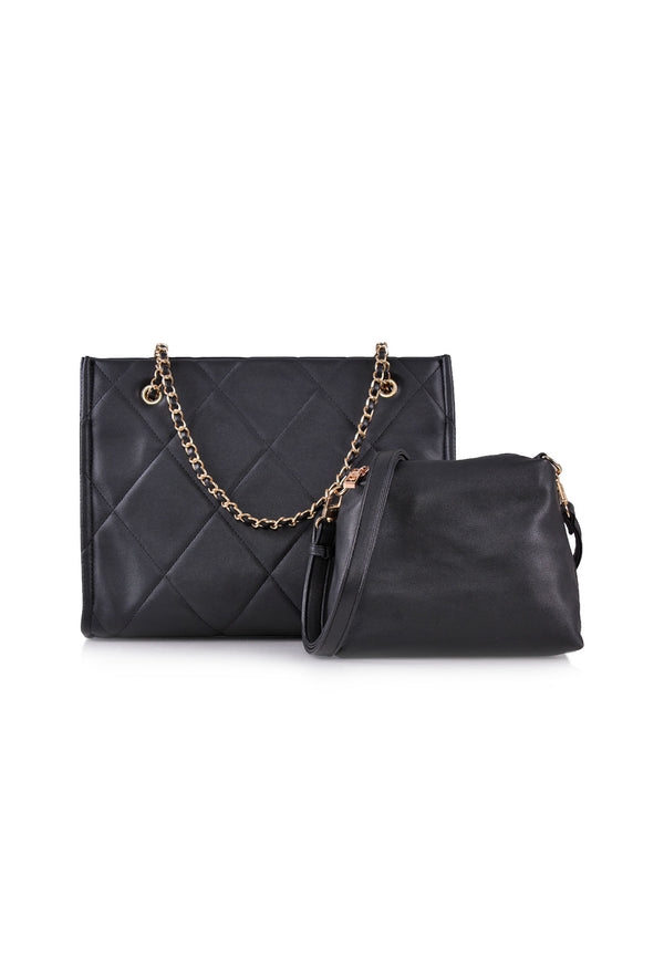 VOIR Quilted Chain 2in1 Tote Bag