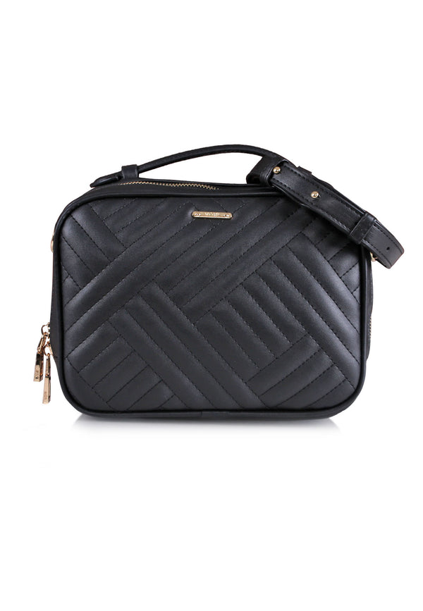 VOIR Signature Chevron Square Sling Bag