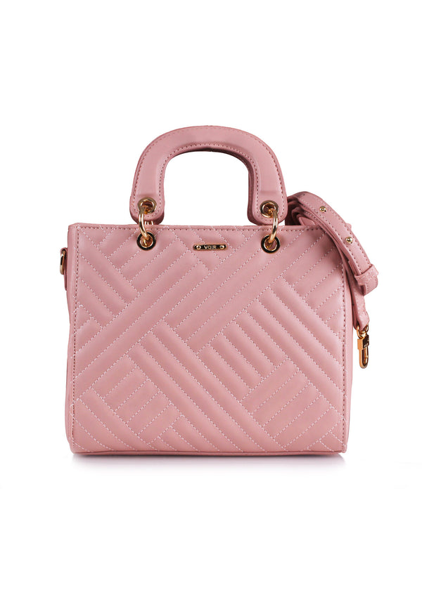 VOIR Signature Chevron Top Handle Bag