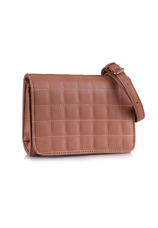*ONLINE EXCLUSIVE* VOIR Classic Square Quilted Crossbody Bag