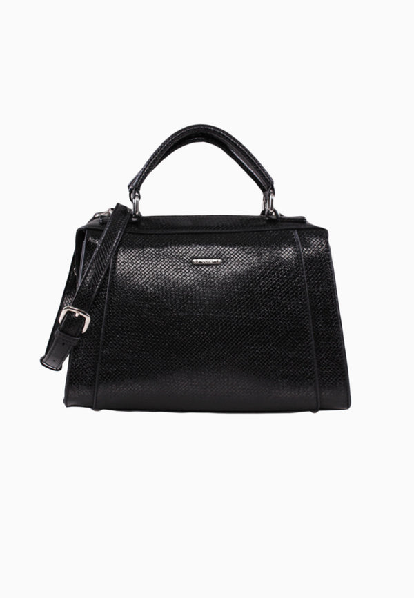 VOIR Classic Embossed Satchel Bag