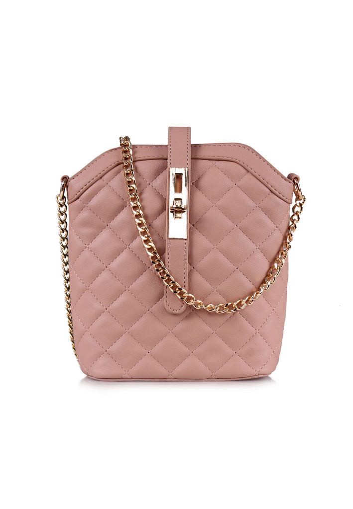 Sleek Quilted Crossbody Chain Bag
