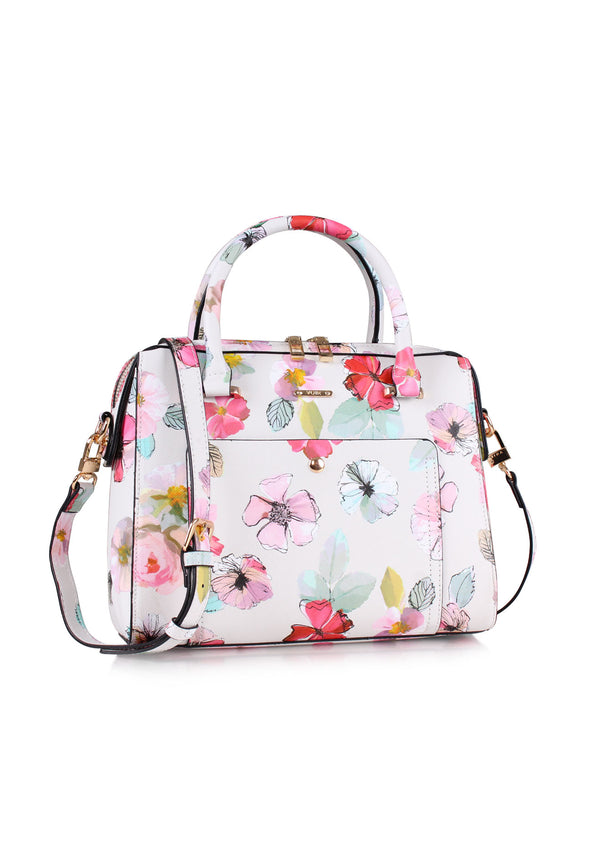 VOIR Spring Floral Print Top Handle Casual Handbag