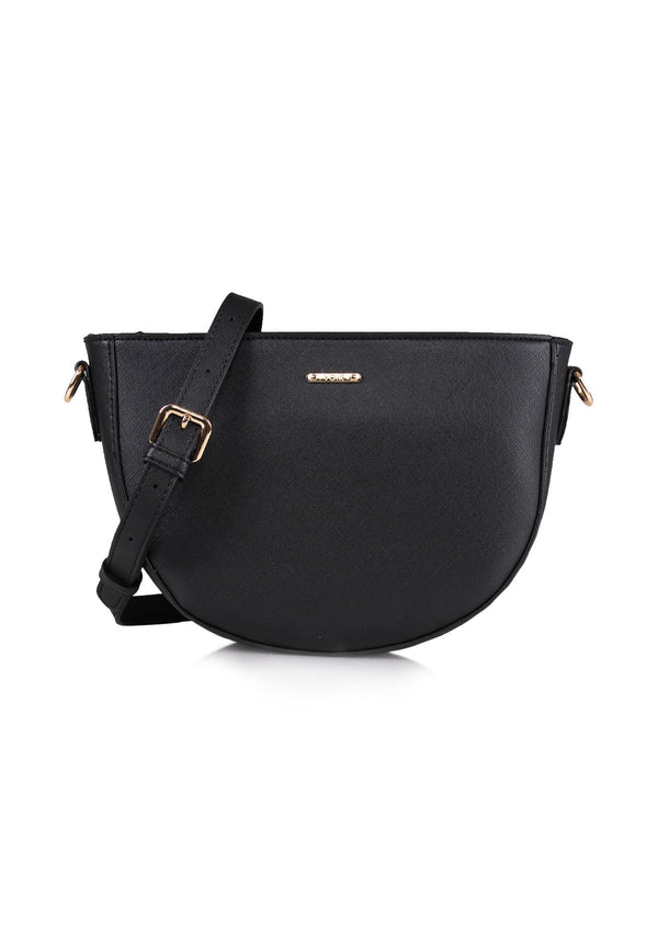 VOIR Simple Half Moon Crossbody Bag