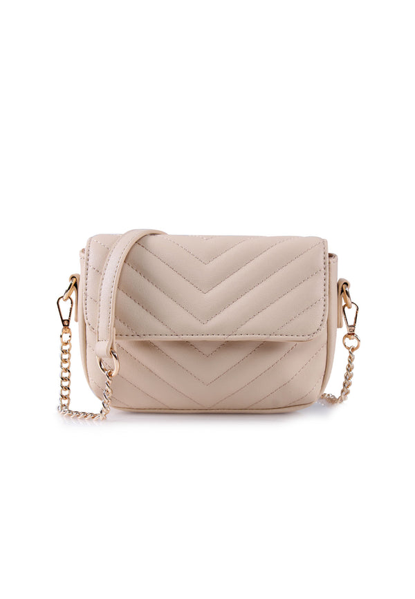 VOIR Signature Soft Chevron Flap Sling Bag