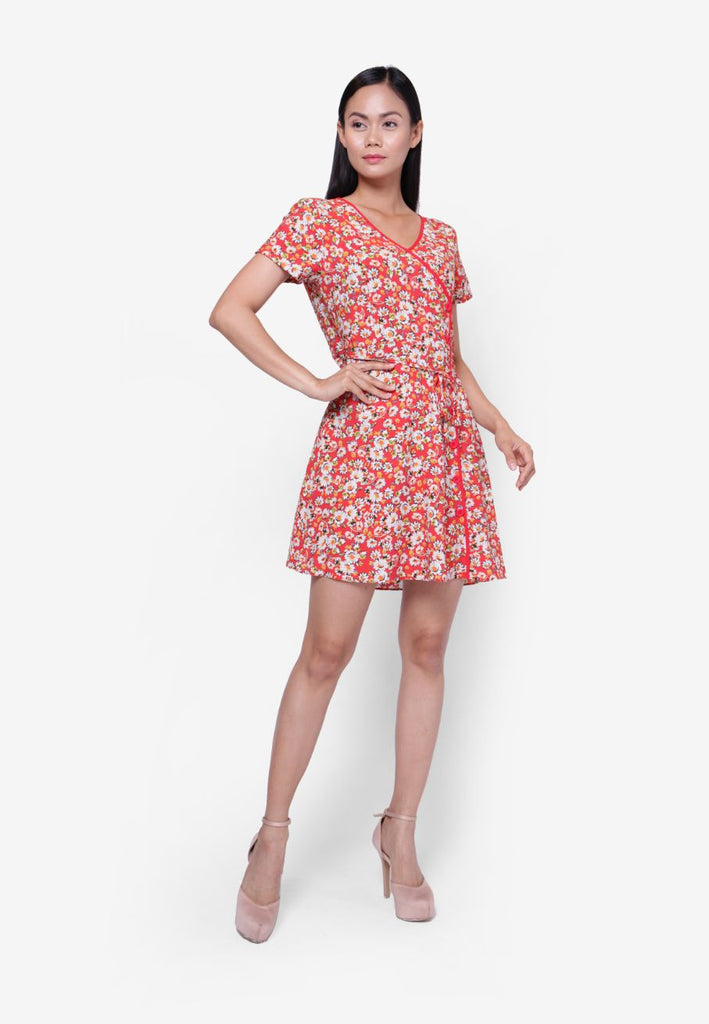 Button Floral Dress