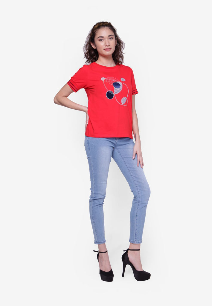 Circles Printed T-Shirt