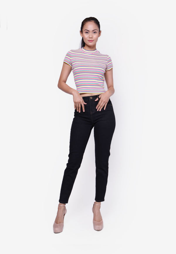 #202 High Rise Slim Cut Jeans