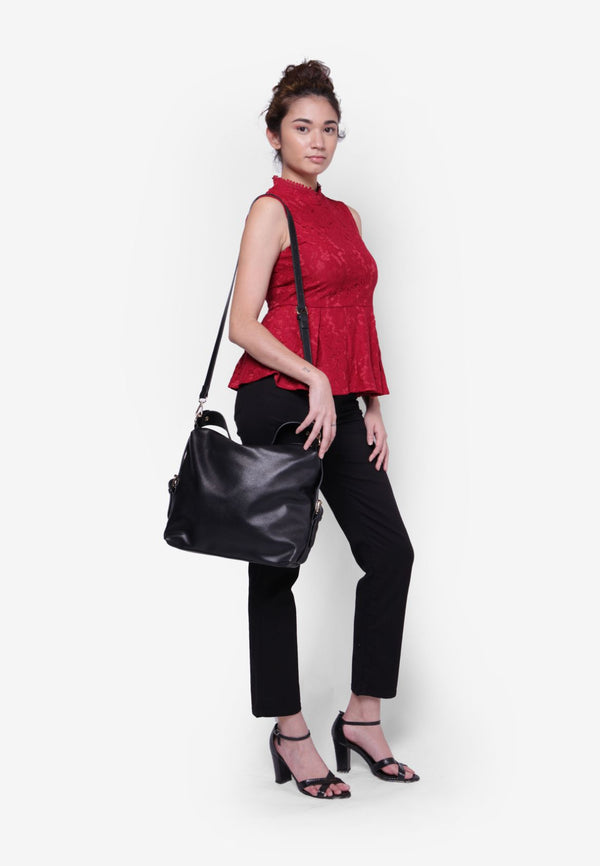 Large Zipper Shoulder Bag