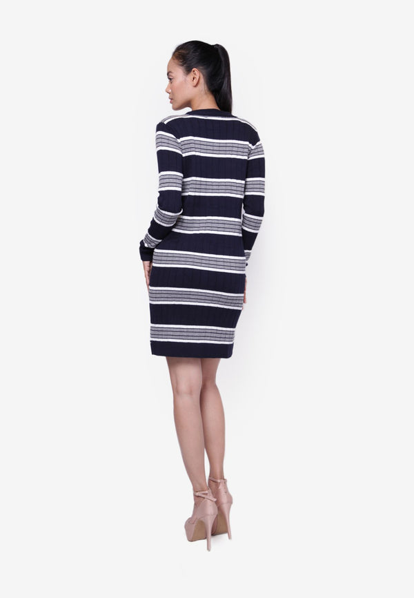 Striped Cardigan Dress