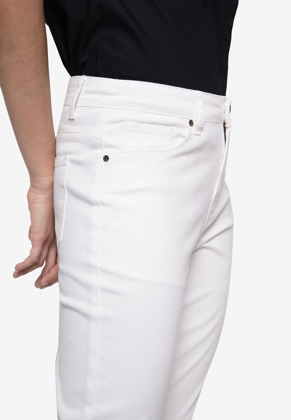 High Rise Straight Cut Pants - White