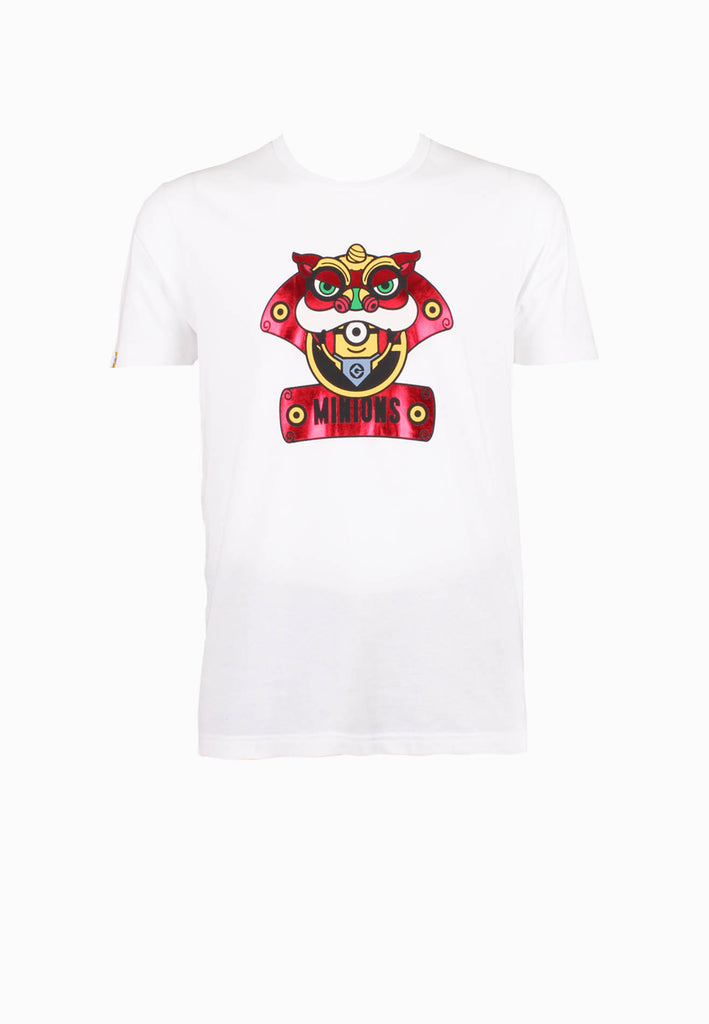 SODA Men ''Minions New Year Edition'' Lion Dance Print Tee