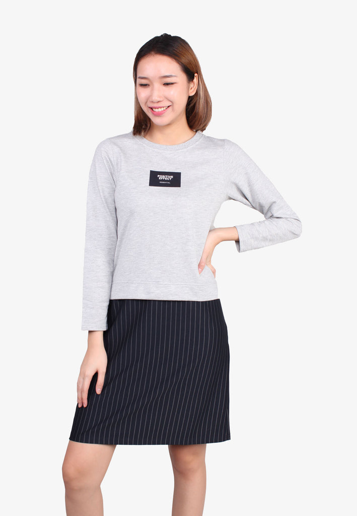Positive Effect Round Neck Long Sleeve Top