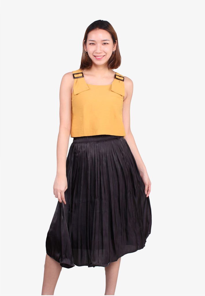 Pleated Swing Skirt
