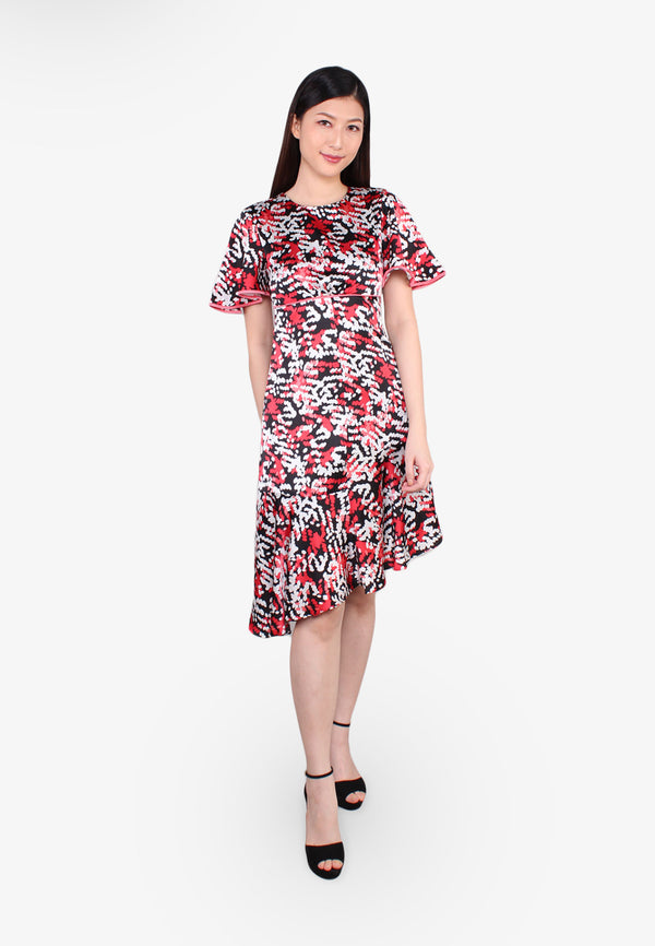 ELLE Empire Cut Piping Dress