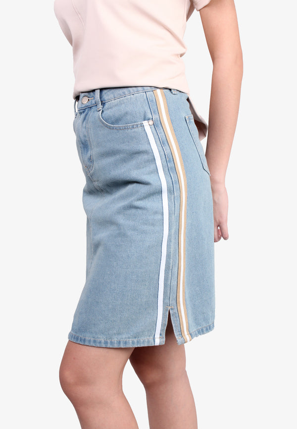 Denim Taping Skirt