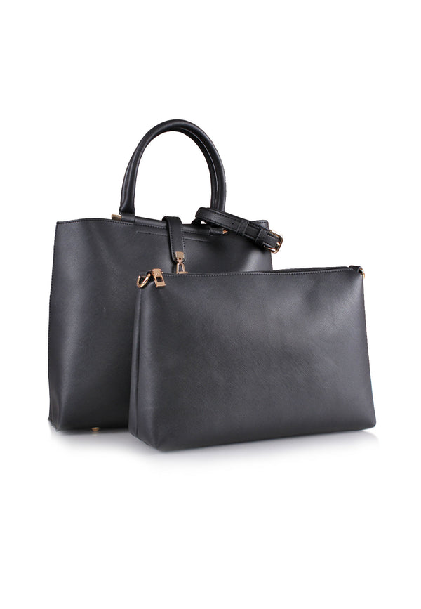 Large Tote Bag Featuring Bar Handle