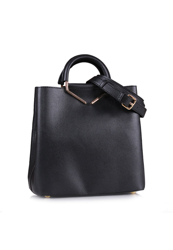 Structured Chic Handle Tote Bag
