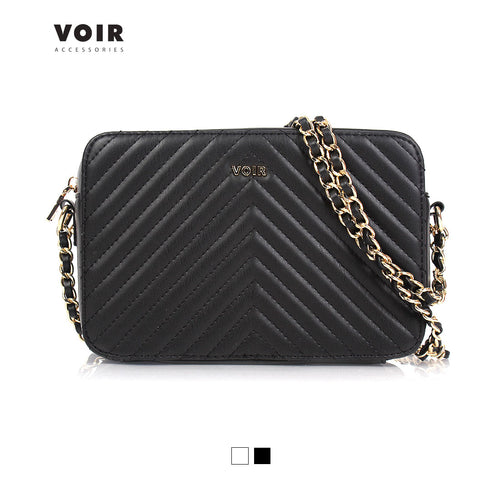 VOIR Quilted Sling Bag with Top Zipper Closure VN101139-U031805