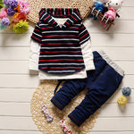 Stripped 3pcs Boy Outfit