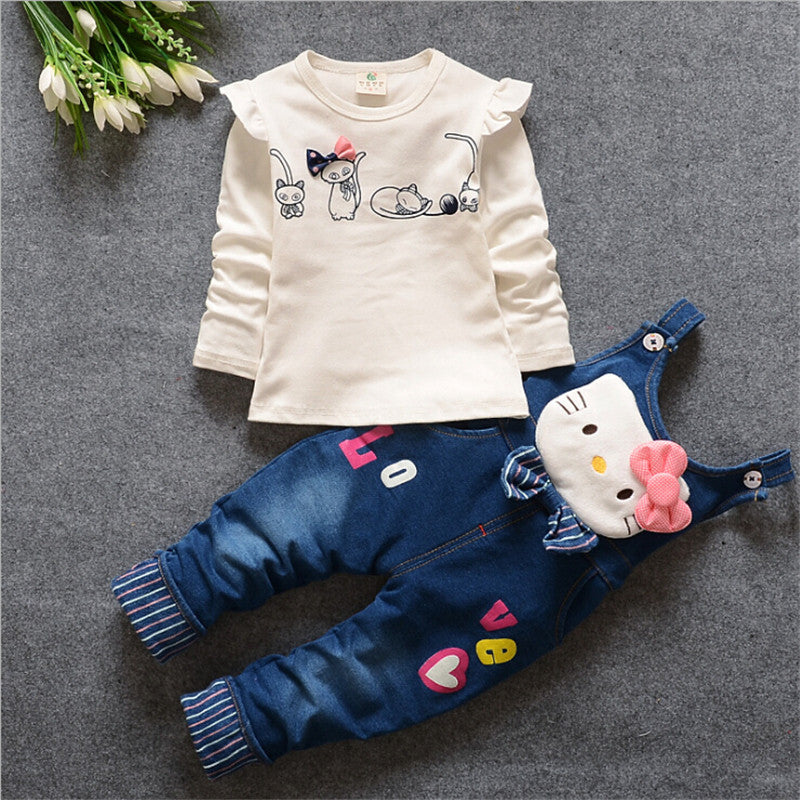 Newborn Denim Style Girl Outfit