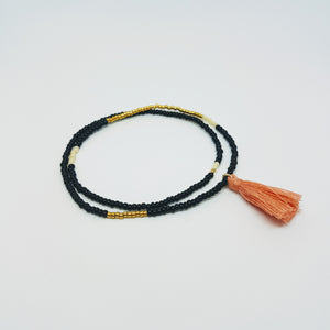 Endito Collection Elastic Tassel Wrap Bracelet