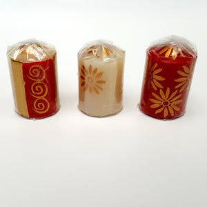 Hand Painted Christmas Votives