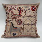 Indus Heritage Cushion Cover Animals & Palace