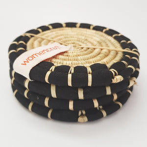 WomenCraft - Coaster Set - Black